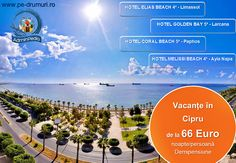 AdminPedia vă oferă vacanţe în Cipru, statul situat pe o insulă, la intersecţia a trei continente, locul unde estul se întâlneşte cu vestul, un loc luminat de soare 360 de zile pe an şi scăldat de apele Mării Mediteraneene.