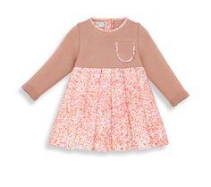 Vestido estampado de punto de aguja y satén de algodón -  Dior