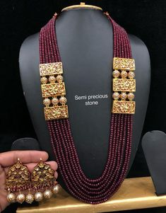 Kundan Long Haram Necklace Bollywood Jewelry Polki Onyx Ruby Statement Set Raani | Jewelry & Watches, Fashion Jewelry, Jewelry Sets | eBay!