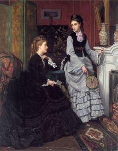 """A moment by the fire"" (c. 1880-1890) by Jan Frederik Pieter Portielje (1829-1908)."
