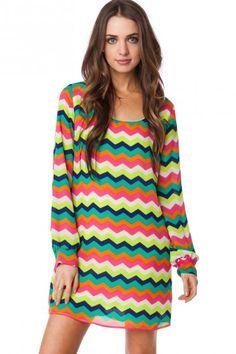 Rona Chevron Dress