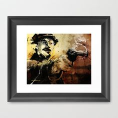 Halk Mask Framed Art Print by Fresh Doodle - JP Valderrama - $42.00