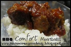 Pioneer Woman's BBQ Comfort Meatballs (and I do my own freezer version of these delicious meatballs)
