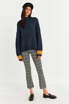 Silence + Noise Ribbed Turtleneck Sweater   Urban Outfitters