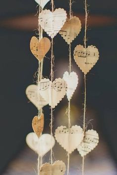 Gorgeous decor that's easy to make on your own! #Hearts #Music | Birds of a Feather Events | #WeddingIdeas