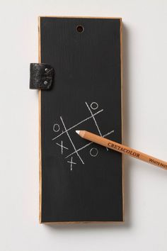 I think this is a great little chalk board and chalk pencil for travel and such. kids love chalk boards.