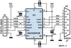 USB port to RS232 port Converter