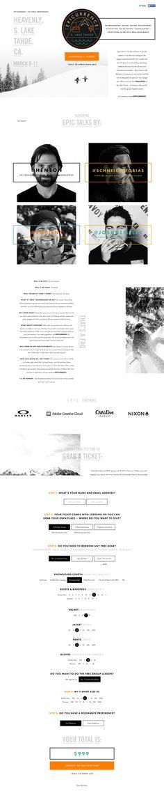 Epicurrence landing Website Layout, Web Layout, Layout Design, Ux Design, Website Design Inspiration, Layout Inspiration, Site Web Design, Best Web Design, Webdesign Inspiration