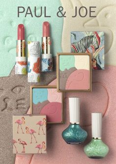 Paul & Joe Menagerie Spring 2015 makeup collection - I'm new to this line but it really has some interesting packaging.as for the makeup itself, I'll have to try an item out Paul Joe, Mini Makeup, Cute Makeup, Fancy Makeup, Makeup Package, Cosmetic Design, Too Faced, Latest Makeup, Beauty Packaging