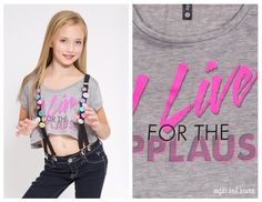 Sadie Jane Dancewear - I Live for the Applause Crop, $28.00 (http://www.sadiejane.com/i-live-for-the-applause-crop/)
