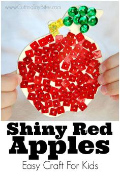 Easy apple craft for