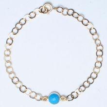 Turquoise & Goldfill Bracelet www.jewelya.com
