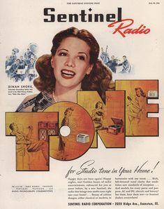 Sentinel Radio advert 1940's