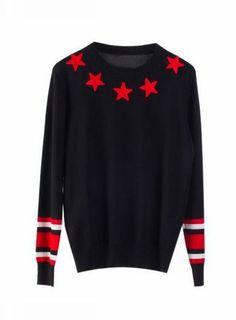 BABER Stars Embroidery Sweater@ shopjessicabuurman.com