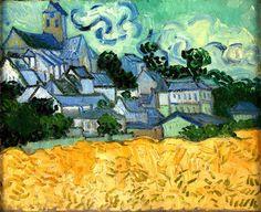 Vincent van Gogh | View of Auvers with Church | Oil on canvas | 34.0 x 42.0 cm. | Auvers-sur-Oise | July, 1890