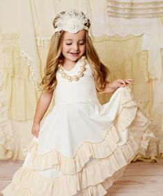 Take a look at this Cream Cupcake Halter Dress - Toddler & Girls on zulily today!