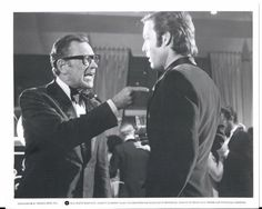 """Richard Chamberlain & William Holden Still 1974 WB """"Towering Inferno"""" B/W Richard Chamberlain, The Towering Inferno, Disaster Movie, No Way Out, Scene Photo, Celebrity Photos, Hollywood, Actors, Black And White"""