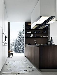 I'd leave my door open, too, if that was my view.  poliform kitchen design Via Just The Design