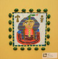 7th Grade artwork, egyptian drawings
