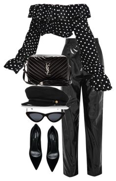 """Untitled #5540"" by theeuropeancloset on Polyvore featuring TIBI, Dsquared2, Le Specs, Eugenia Kim and Yves Saint Laurent"