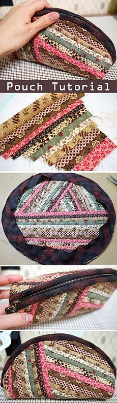 Косметичка на молнии. Квилтинг и пэчворк. Quilts Zippers Pouch, Cosmetics Bag. DIY tutorial in pictures. Quilting and patchwork. http://www.handmadiya.com/2015/09/quilts-zippered-pouch-tutorial.html