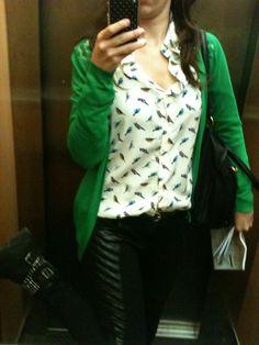 Cardigan verde blusa passaris