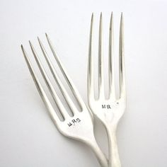 Fancy - Mr. and Mrs. Wedding Forks