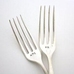 Fancy - Mr. and Mrs. Wedding Forks