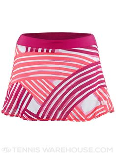 "Wilson Spring Watercolor 12.5"" Pink Flare Tennis Skirt"