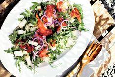 Kijk wat een lekker recept ik heb gevonden op Allerhande! Salade van meloen, rucola en ham