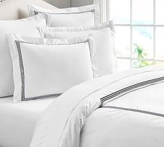 Grand Embroidered Duvet Cover - Pottery Barn