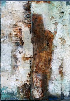Blech auf Leinwand 80x100x4 art by Sonja Bittlinger