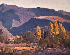 Hanson Puthuff (1875-1972). La Crescenta. Oil on Board, 16 x 20 in.