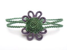 Spiral handmade macrame bracelet