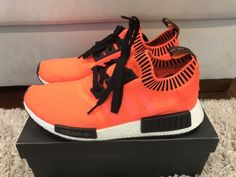 ea6965ec80de9 Adidas NMD R1 Orange Noise - Exclusive- Size 11.5  fashion  clothing  shoes