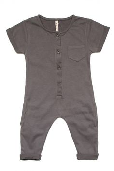 GRAY LABEL Short sleeved playsuit made from the softest organic cotton. Buttons up the front with a pocket on the right chest. 100% organic cotton about GRAY-LABEL Gray-Label creates simplicity in a w