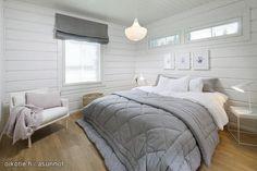 Myynnissä - Omakotitalo, Kalteva, Hyvinkää: 5h + k + s + p + khh + ph + wc + tkn + vh - Myötätuulentie 7, 05830 Hyvinkää   Oikotie New Homes, Decor, Bedroom Decor, Bed, Home, Log Homes, Bedroom, Home Bedroom, Home Decor