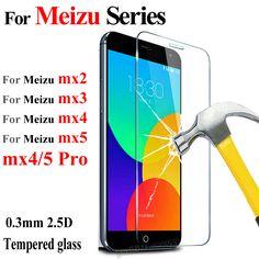 New 0.3mm Premium Tempered glass Screen Protector Film For Meizu Mx5 Mx4 Mx3 Mx2 Pro Mx 5 Mx 4 Pro 5 Pro5 Guard + Clean kits