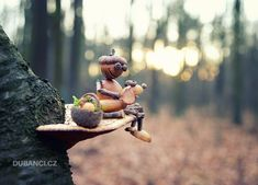 Galerie - Dubánci Rustic Art, More Images, Acorn, Elves, Projects To Try, Creatures, Creative Ideas, Outdoor Decor, Artist