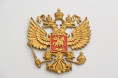 Double headed eagle crest as designed for the novel 'The Tsar's Banker'