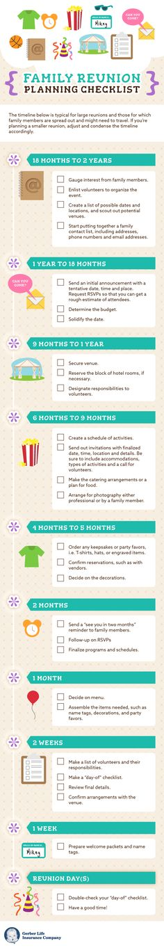 Interested in planning a family reunion? Our checklist can help you get started.