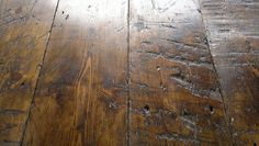 Wide reclaimed wooden floorboards - for shelves example of what don't want