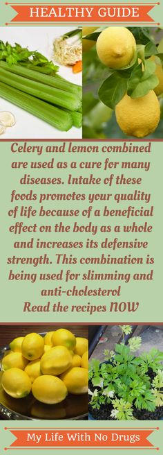 The combination of #celery and #lemon is being used for #slimming and anti-cholesterol #cholestrol