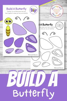 Make a butterfly with this fun creepy crawly craft. This preschool and kindergarten cut and paste craft is great for developing your child's cutting and sticking skills, and an awesome chance to practice some pencil control and fine motor skills as well! Grab the templates over at Nurtured Neurons! #cutandpaste #butterflies #butterflycrafts #preschoolcrafts #kindergartenactivities #preschool #kidscrafts #creepycrawlies #bugs Easy Crafts For Kids, Toddler Crafts, Preschool Crafts, Kindergarten Activities, Learning Activities, Activities For Kids, Parenting Done Right, Butterfly Crafts, Parenting Hacks