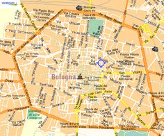 Map of Bologna, IT.