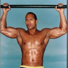 """Duane """"The Rock"""" Johnson...not many pictures without his shirt off so this was the best one I could find :) He's handsome!"""