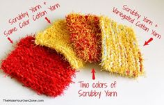 Scrubbie Knitting Pattern using Red Heart Scrubby Yarn