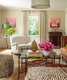 Beautiful, traditional #livingroom by Liz Carroll - Esme Lamp by Stray Dog Designs. #straydogdesigns