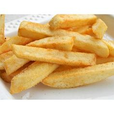Frying the potatoes twice gives these french fries a crispiness not normally achieved in home cooked fries.
