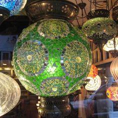 Mosaic lantern green